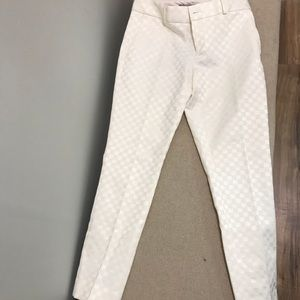 White skinny leg pants